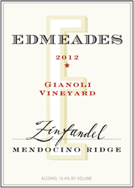 Edmeades 2012 Gianoli Vineyard Zinfandel