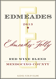 2013 Edmeades' Folly Red Wine Blend