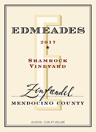 2017 Shamrock Vineyard Zinfandel